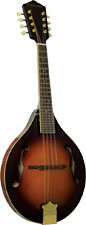 Ashbury AM-410 A Style Bluegrass Mandolin Solid carved AA spruce top with solid maple back and sides. Ivoroid binding