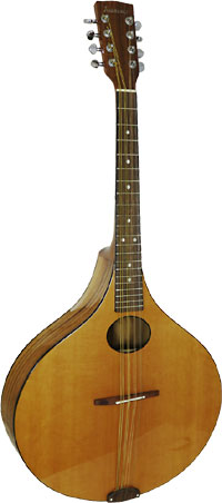 Ashbury Lindisfarne Octave Mandola Large onion shaped body. Solid cedar top, solid koa back and sides.