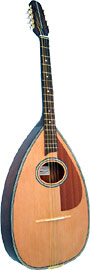 Blue Moon BB-12 Irish Bouzouki, Pear Shape Body Big pear shaped body, oval soundhole, natural finish with inlay