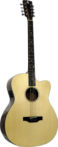 Ashbury Style E Gazouki, Guitar Body Cutaway guitar body with bouzouki neck. Solid Alaskan Sitka Spruce top