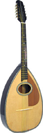 Blue Moon BC-12 Cittern, Pear Shaped Body, 10s Big pear shaped body, oval soundhole, natural finish, 650mm scale.Big Warm Sound