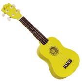 Blue Moon BU-02 Colored Soprano Uke, Yellow