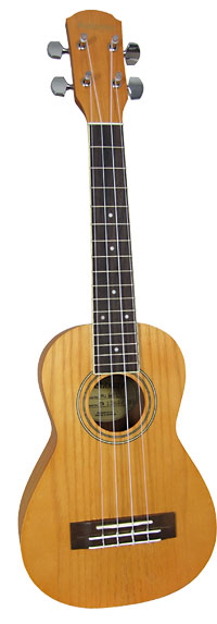 Ashbury AU-60 Concert Ukulele, Ash Body Ash top, back and sides, bound fingerboard, geared tuners. Aquila strings