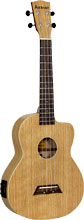 Ashbury AU-40 Tenor Ukulele, Electro Acoustic Cutaway with Fishman Kula uke pickup. Flame oak top, back and sides