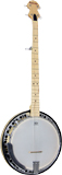 Ashbury AB-65 5 string Banjo, Electro, Maple Electro Acoustic. Maple rim and resonator, rolled brass tone ring.