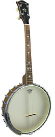 Ashbury AB-55 Openback Tenor Banjo, 17 Fret Short scale openback. 17 fret, walnut neck & rim, Whyte laydie tone ring