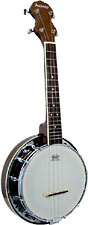 Ashbury AB-34 Ukulele Banjo, Resonator, Walnut Walnut rim & resonator, 12 tension hooks, no knot style tailpiece.