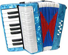 Scarlatti Child's Piano Accordion, Blue