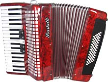 Scarlatti Piano Accordion, 60 Bass. Red