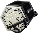 Stagi W15-E G/D Anglo Concertina, 30 Key Anglo system with plain design metal end plates. W15E Model