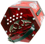 Scarlatti SC-20 C/G Anglo Concertina, 20 Key Anglo 20 button in C/G, red pearl, plastic buttons