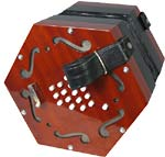Scarlatti SCE-30 English Concertina, 30 Key English system, 30 button, G below middle C to 3rd C above middle C