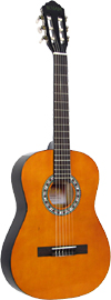 Delgada DGC-10 Classical Guitar, 3/4 size Classical model with Linden wood top, back and sides