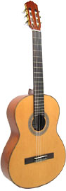 Delgada DGC-22 Classical Guitar, Full Size Solid spruce top, mahogany body, rosewood f/b, wood binding