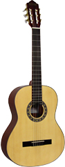 Delgada DGC-26 Classical Guitar, Full Size Classical model with Solid spruce top, saepli back and sides