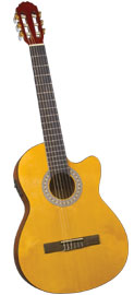 Catala CC-12 Electro Classical Guitar Cutaway electro acoustic classical guitar with a spruce top and mahogany body