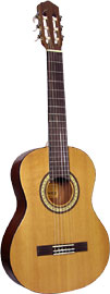 Ashbury AGC-303 Classical Guitar, 3/4 size Spruce top, mahogany back and sides, decal rosette