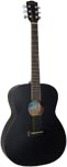 Ashbury AG-30 OOO Style Acoustic Guitar Black finished spruce top with mahogany 000 body