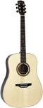 Ashbury AG-164 Dreadnought Guitar, Solid Spruc Solid engelmann spruce top with 2 piece rosewood back with maple center strip