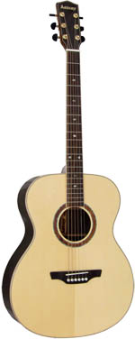 Ashbury AG-160 000 Guitar, Solid Spruce Top Solid engelmann spruce top with 2 piece rosewood back with maple center strip