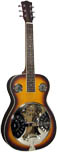 Ashbury AR-37 Resonator Guitar, Square Neck Spruce top with sunburst finish and rosewood back and sides. Square neck.