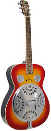 Regal RD-40 Resonator Guitar Spruce top, mahogany body, Exclusive power reflex chamber, Cherry sunburst