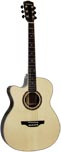 Ashbury AG-160 000 Guitar, Electro, Left Hand Left handed. Solid spruce top with 2 piece rosewood back with maple center strip