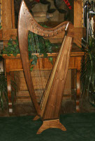 Sara, TP, Fin, F tuning Sara harp 29 strings 4 octave, T Pins, F Tuning specify Walnut or Cherry, no levers