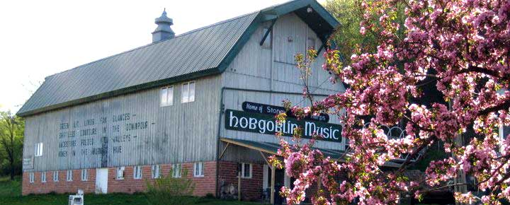 Our Red Wing Barn, home to Hobgoblin Music USA, Stoneyend Harps and the Music Loft Venue
